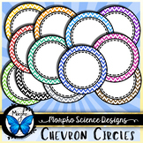 Chevron Circular Frames - Circle Borders