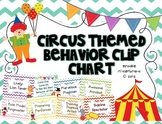 Chevron Circus Themed Behavior Clip Chart