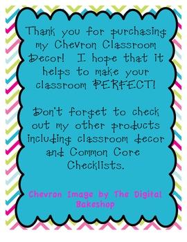 Chevron Class Birthday Poster