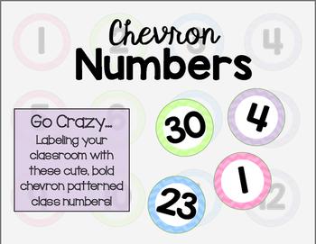 Chevron Class Number Labels