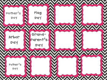 Black and Pink Chevron Class Decorating and Organizing Pack