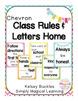 Chevron Class Rule Posters and Letters Home