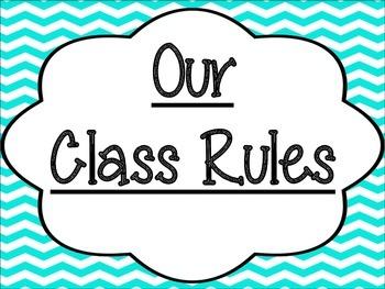 Class Rules: Chevron Print