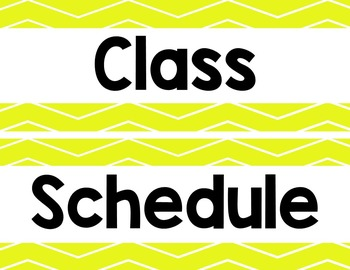 Chevron Class Schedule