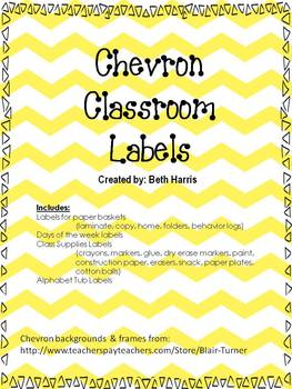 Chevron Class Supply Labels