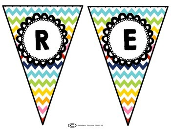 Chevron Classroom Banners - All Subjects