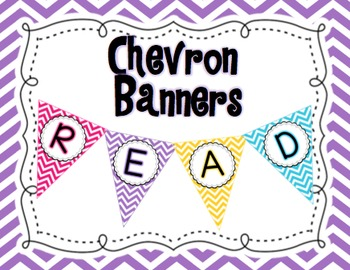 Chevron Classroom Banners FREEBIE