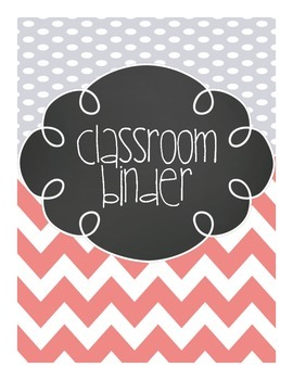 Chevron Classroom Binder