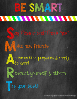 Be Smart Printable Classroom Decor