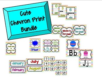 Chevron Classroom Bundle **OVER 200 PAGES OF PRINTABLES