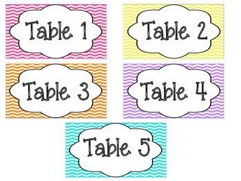 Classroom Decor Bundle Set: Chevron Print