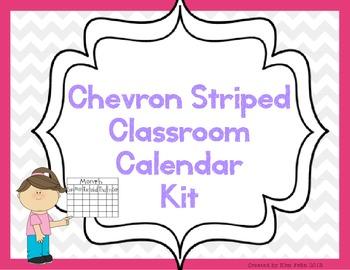 Chevron Classroom Calendar Kit