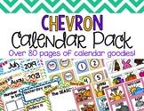 Chevron Classroom Calendar Pack
