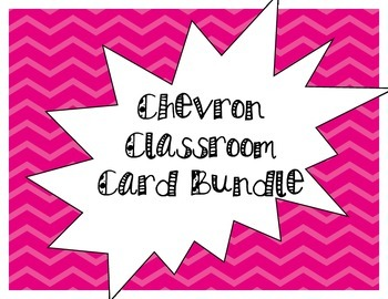 Chevron Classroom Cards Bundle