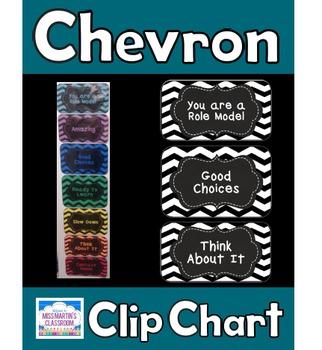 Chevron Classroom Clip Chart