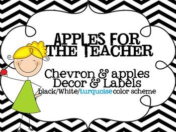 Chevron Classroom Decor- Apples for the Teacher