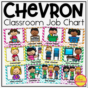 Classroom Decor Bundle in Chevron ~ Classroom Jobs, Labels, Rules and More!