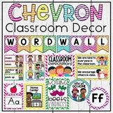 Chevron Classroom Theme Decor Bundle with Jobs, Schedule Cards, Labels & More!