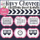 Chevron Classroom Decor Bundle-Editable Labels, Bulletin B