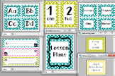 Chevron Classroom Decor Bundle- Letters, Numbers, Name tag