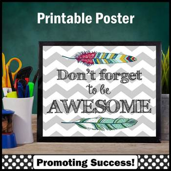 Awesome Inspirational Quote Poster Motivational Classroom