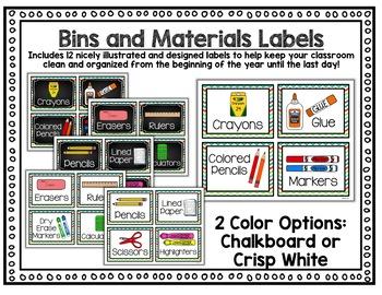 Classroom Decor Editable - Colorful Chalkboard Classroom Decor