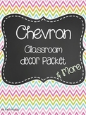 Chevron Classroom Decor Packet & More
