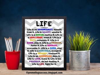 Mother Teresa Quote about Life + Activity Idea ~ Teacher C