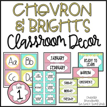 Chevron Classroom Starter Mega Pack