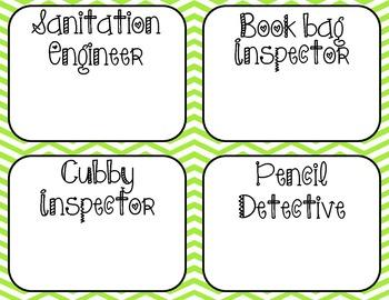 Chevron Classroom Essentials Bundle