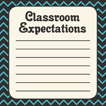 Chevron Classroom Expectations Poster