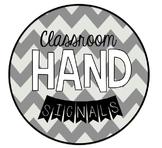 Chevron Classroom Hand Signals