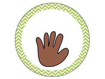 Chevron Classroom Hand Signals {Editable}