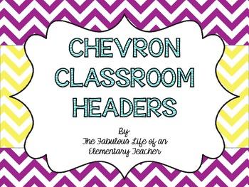 Chevron Classroom Headers