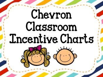 Chevron Classroom Incentive Charts