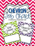 Chevron Classroom Job Chart (Editable)