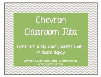Chevron Classroom Jobs Clip Chart