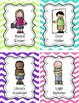 Classroom Jobs Set - Now Editable! {Bright Chevron}