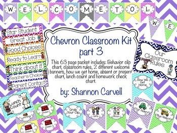 Chevron Classroom Kit Part 3