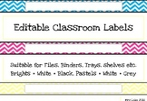 Chevron Classroom Labels A4 wide