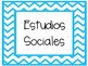 Chevron Classroom Labels Freebie- SPANISH