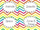 Classroom Decor Chevron Multi Colored