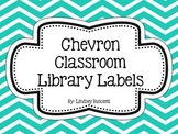 Chevron Classroom Library Label Pack