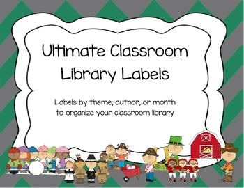 Chevron Classroom Library Labels