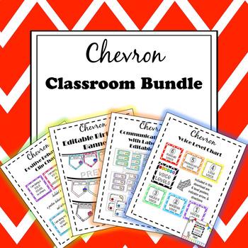 Classroom Management Bundle {Chevron}