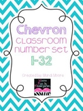 Chevron Classroom Number Set {1-32}