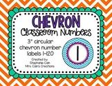 Chevron Classroom Numbers 0-120