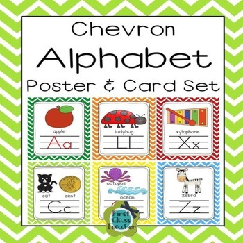 Chevron Classroom Organization and Decor Bundled Collection