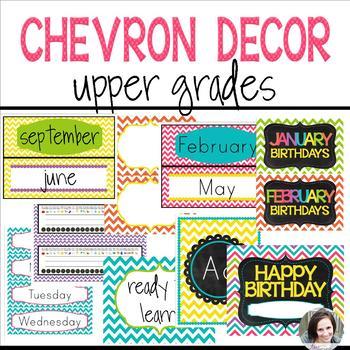 Chevron Decor (editable) - Upper Grades
