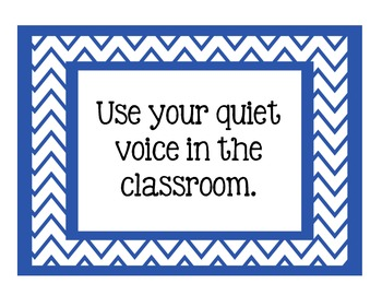 Chevron Classroom Rules Posters